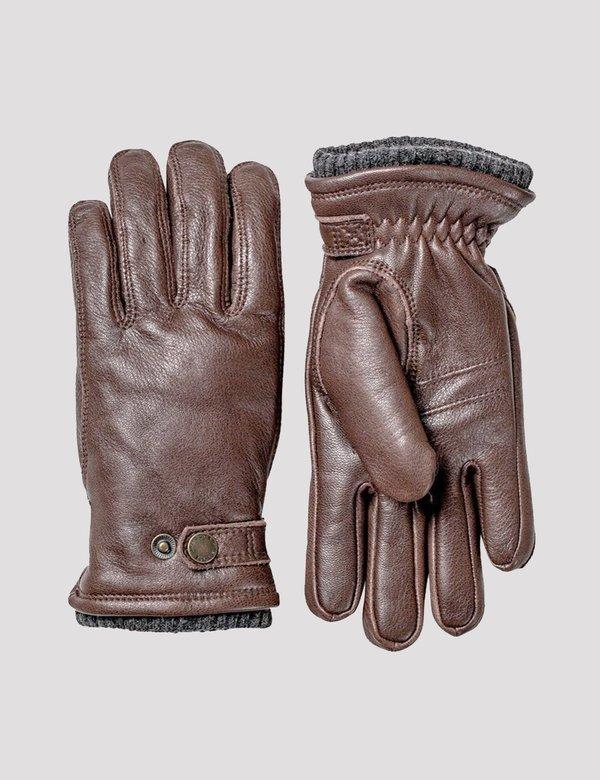 Hestra Deerskin Utsjo Sport Gloves - Espresso Brown
