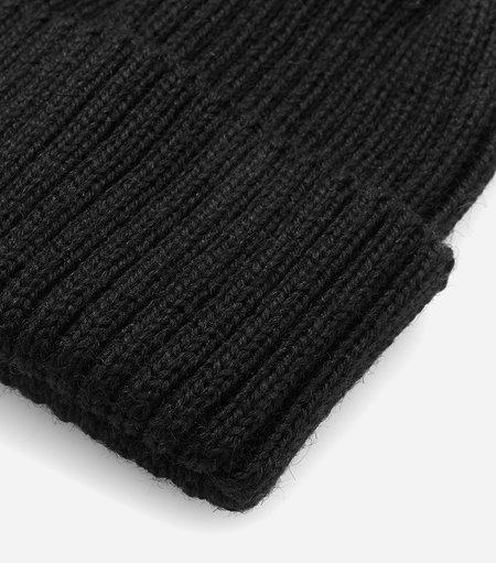 Highland Headwear Rib Beanie wool Hat - Black