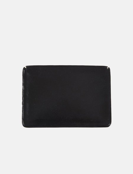 Il Bussetto Small Leather Card Holder - Black