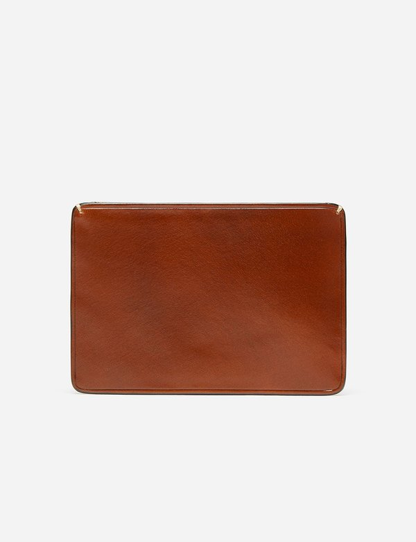 Il Bussetto Small Leather Card Holder - Cappuccino Brown