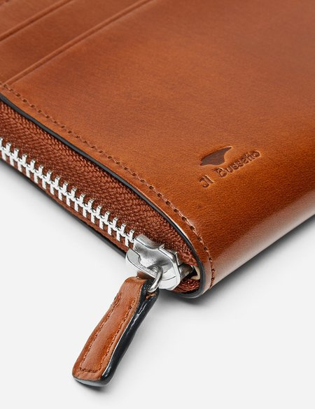 Il Bussetto Small Leather Zip Wallet - Cappuccino Brown