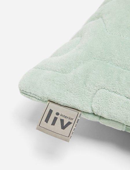 Liv Interior Quilted Velvet Cushion (45cm) - Sage Green