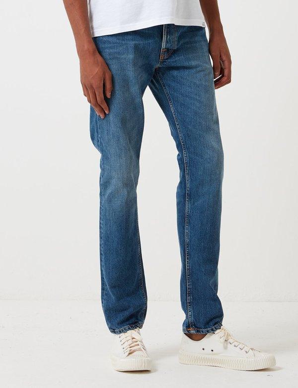 Nudie Fearless Freddie Loose Taper Jeans - Midnight Worn Blue
