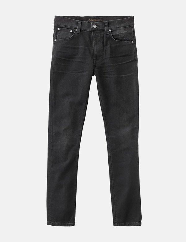 Nudie Lean Dean Slim Tapered Jeans - Authentic Black