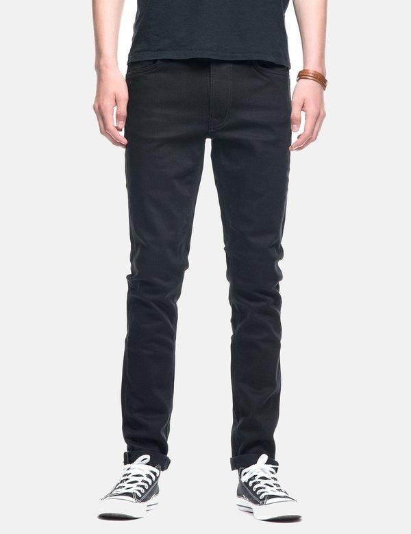 Nudie Lean Dean Slim Tapered Jeans - Dry Ever Black