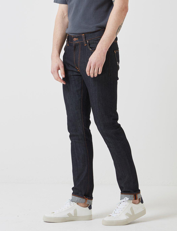 Ecru Nudie Lean Dean Slim Tapered Mens Jeans