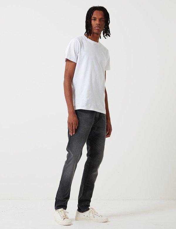 Nudie Jeans Lean Dean Slim Tapered Jeans - Mono Grey