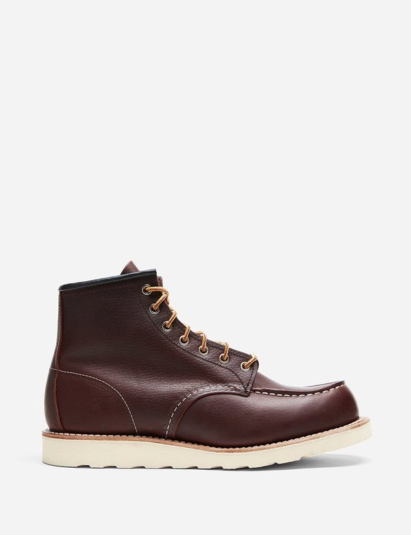 """Red Wing Shoes 6"""" Leather Moc Toe Boot 8138 - Brown"""