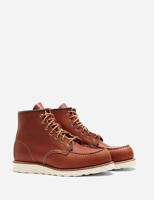 """Red Wing Shoes 6"""" Leather Moc Toe Boot 875 - Tan"""