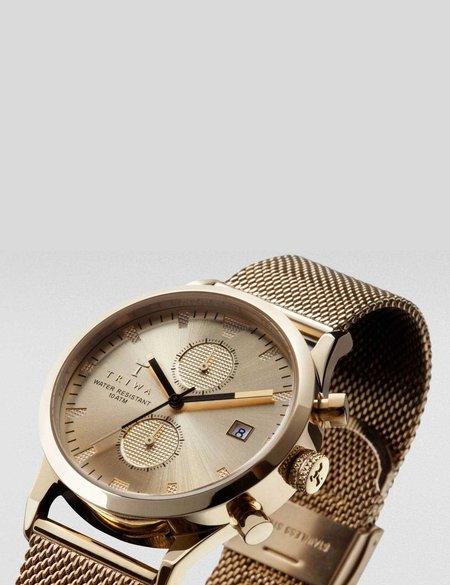 Triwa Sort of Black Chrono Watch - Gold
