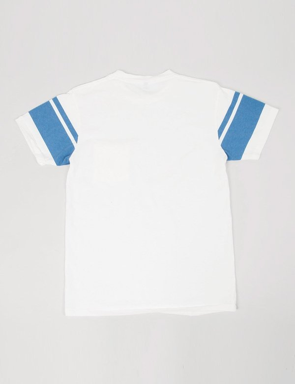 Velva Sheen College Arm Border T-shirt - White/Blue