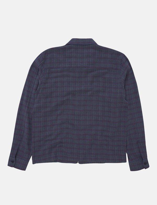 YMC Bowie Zip Shirt - Blue