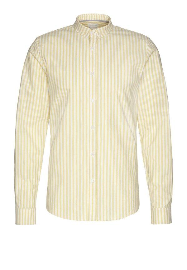 Armedangels Tymaan Shirt - Lemon Yellow Stripes
