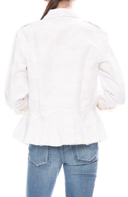 MASONS Camo Embroidered Jacket - White