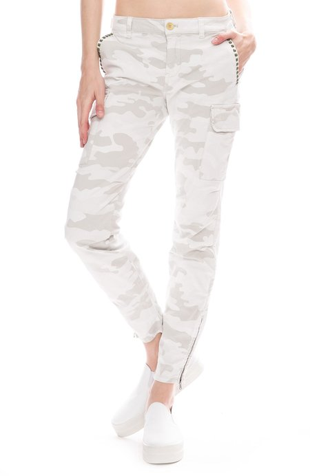 Masons Cargo Pants with Studs - Camouflage