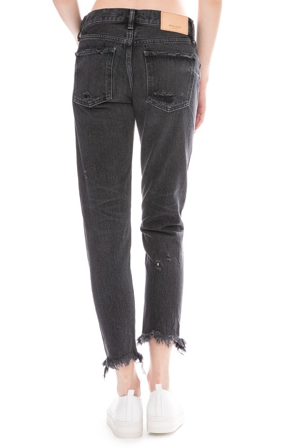 Moussy Kelley Tapered Jean - Black