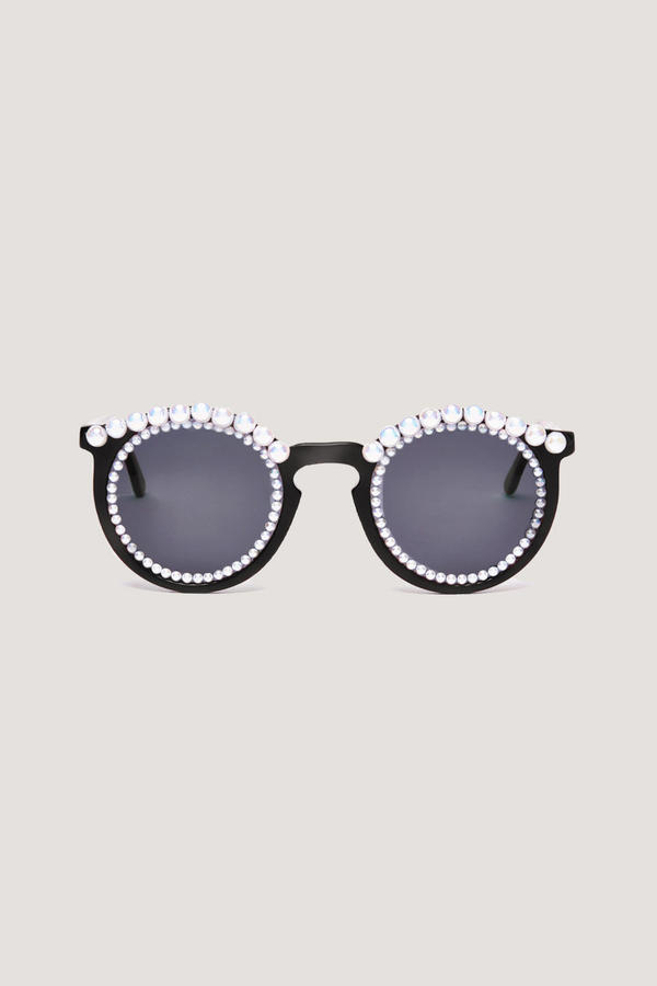 Banana Tosca Pearl On Sunglasses Blackwhite Garmentory Freda Lq5Rj43A