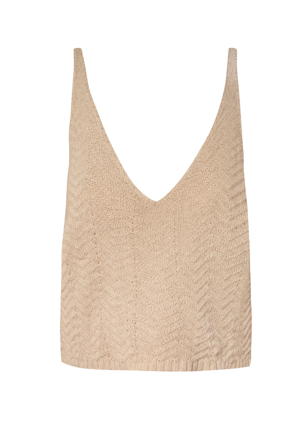 clō stories Marie V-neckline knit top - sand