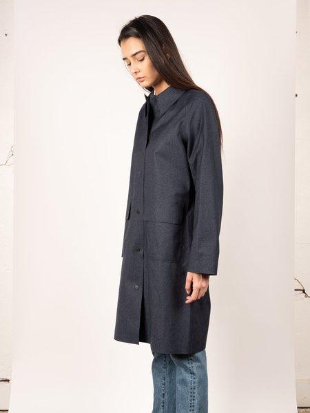 Norse Projects Felicia Wool Rain Coat - Dark Navy