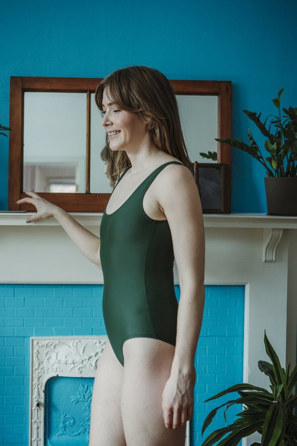 Minnow Bathers Form Maillot - Green