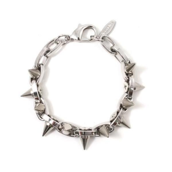 Joomi Lim Double Row Spike Bracelet - Rhodium/Rhodium