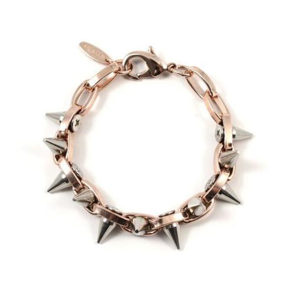 Joomi Lim Double Row Spike Bracelet - Rose Gold/Rhodium