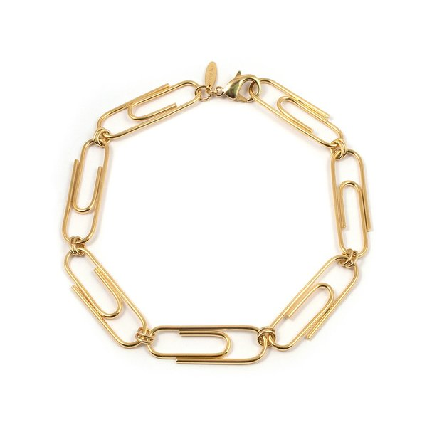 Joomi Lim Giant Paperclip Necklace - Gold