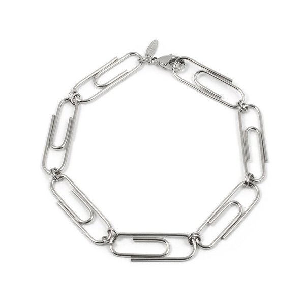 Joomi Lim Giant Paperclip Necklace - Rhodium