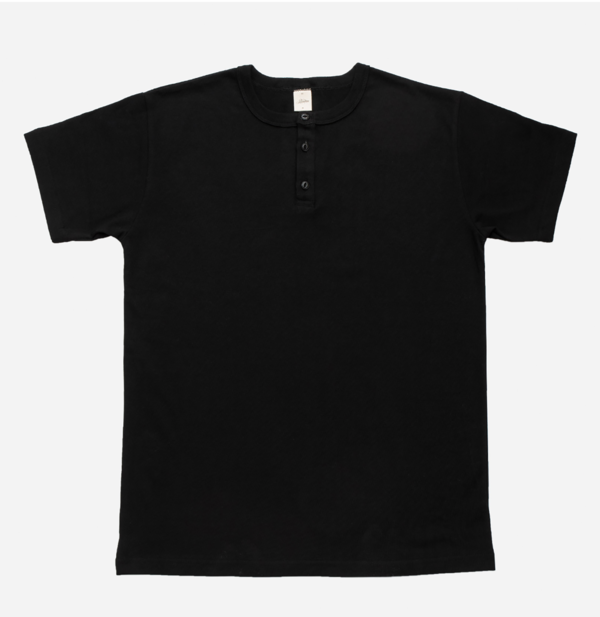 3sixteen Heavyweight Short Sleeve Henley - Black