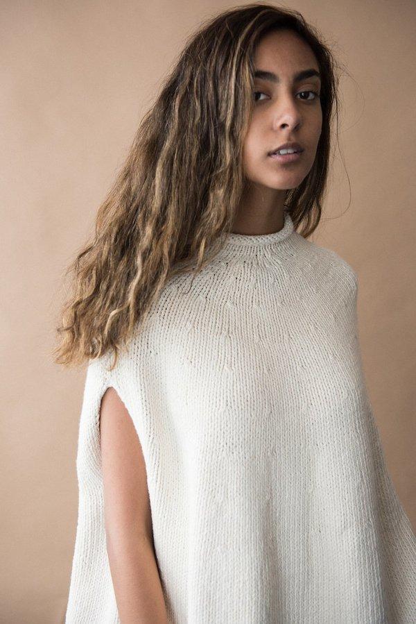 Lauren Manoogian Handknit Yoke Poncho