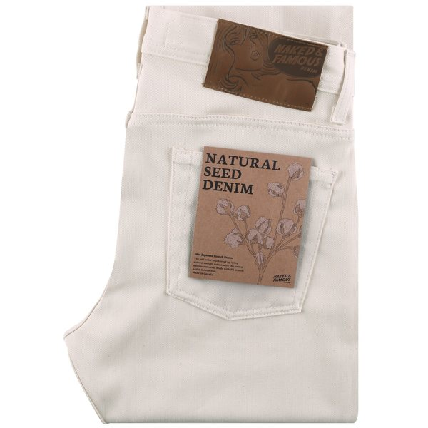 Naked & Famous Natural Seed Denim Jeans