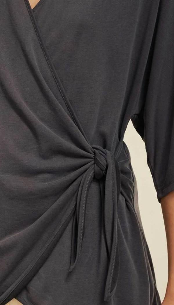 Charli Brielle Kimono Top - Charcoal