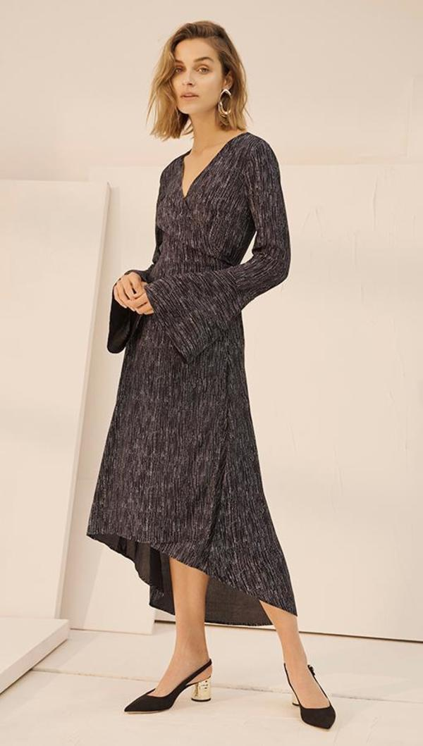 Charli Nella Wrap Dress - ZigZag Print