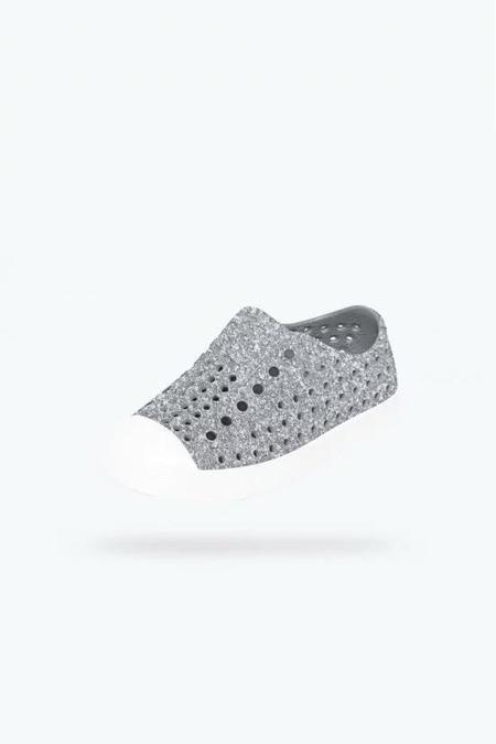 Kids Native Shoes Jefferson Shoe - Silver Bling