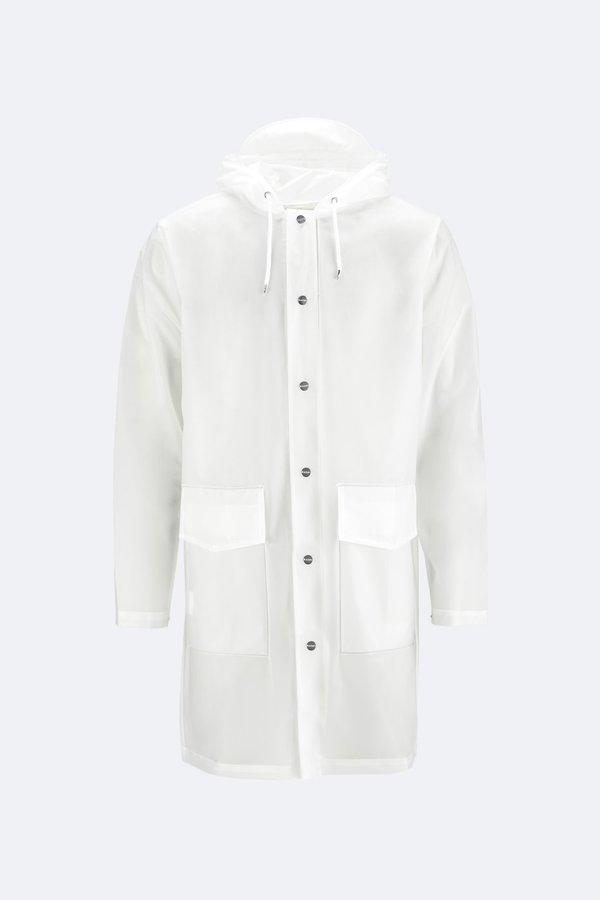 Unisex Rains Hooded Coat - Foggy White