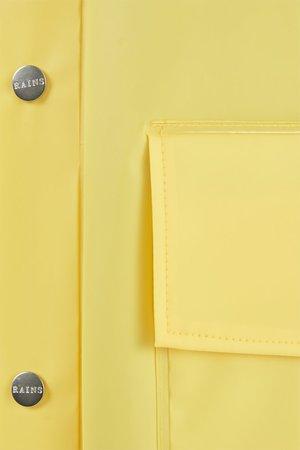 Unisex Rains Hooded Coat - Foggy Yellow