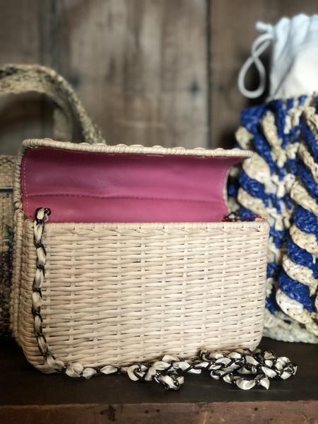 Maria La Rosa Wicker purse