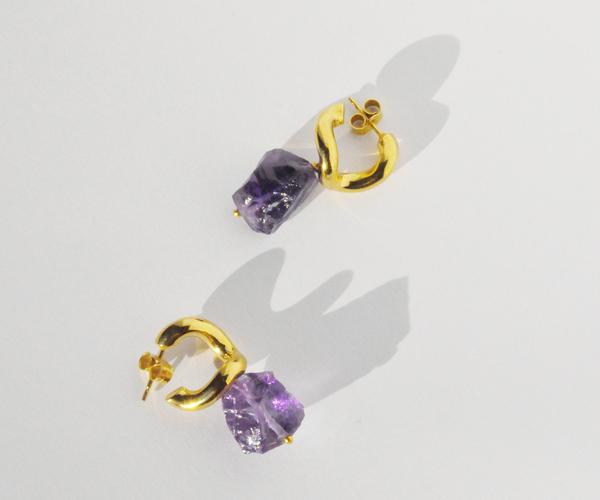 Brigitta rei earrings - amethyst