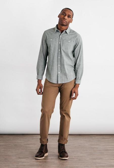 Bridge & Burn Winslow Pinstripe Shirt - Olive