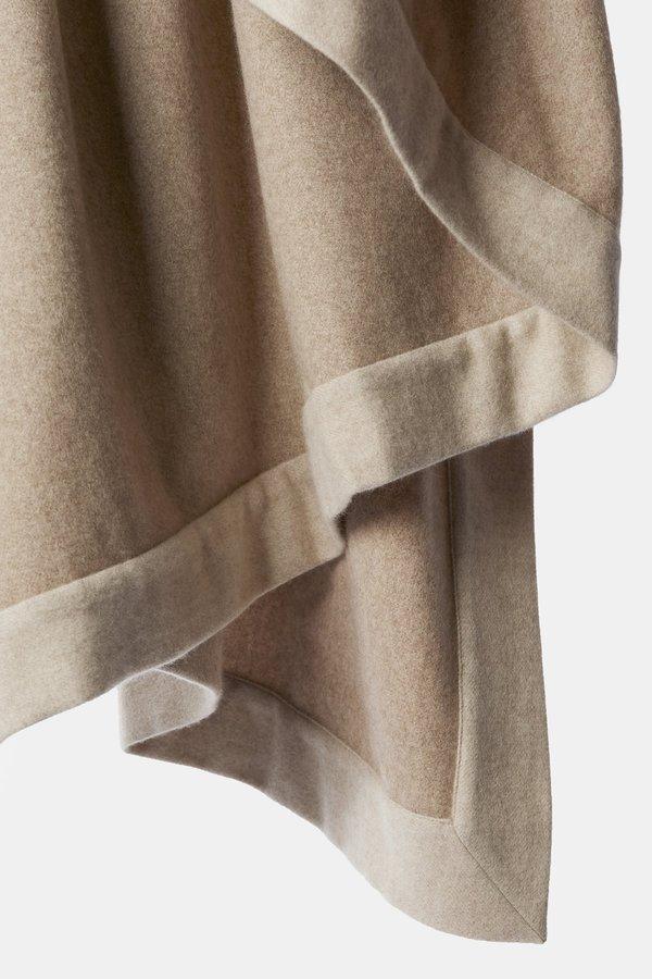 Oyuna Etra Heavyweight Timeless Luxury Cashmere Throw - Melange Taupe/Beige