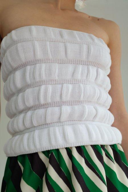 A Détacher Camila Tube Top - White