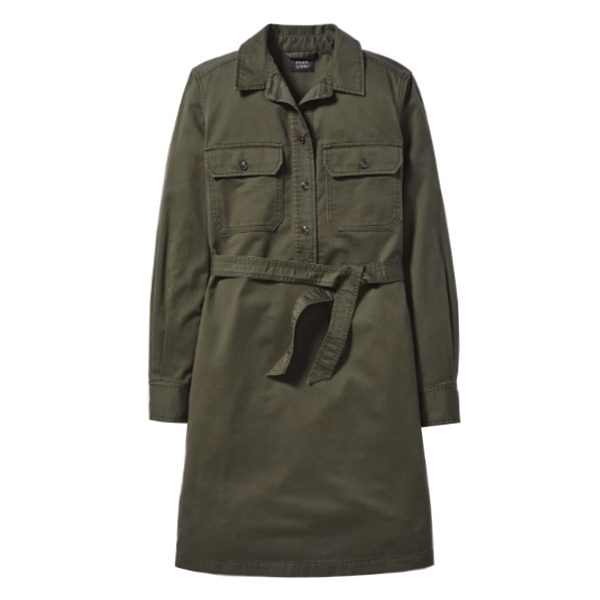 Filson Colville Long-Sleeve Shirt Dress - Olive