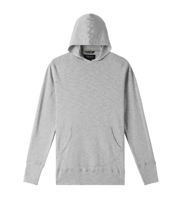 Wings+Horns 1x1 Pull Over Hoody - heather grey
