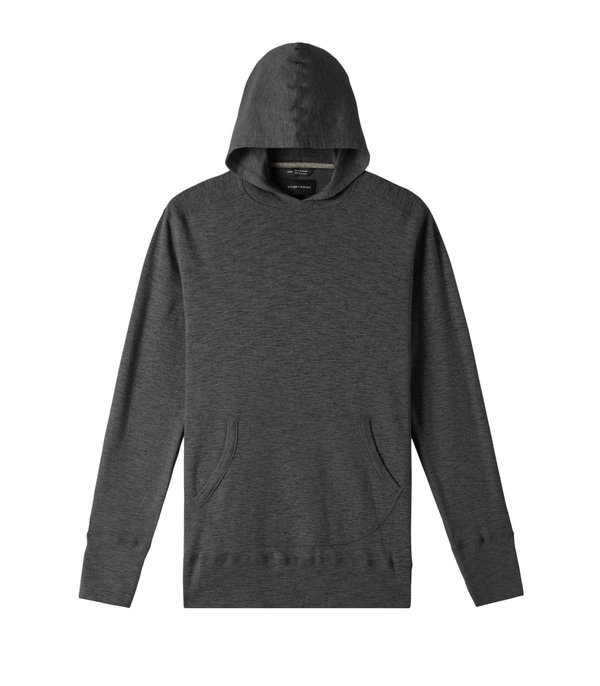 Wings+Horns 1x1 Pull Over Hoody - heather charcoal