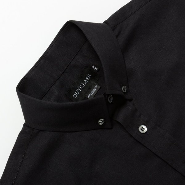 Outclass Linen S/S - BLACK