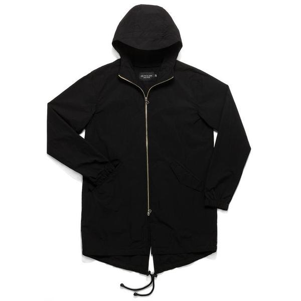 Outclass Nylon Fishtail Jacket - BLACK