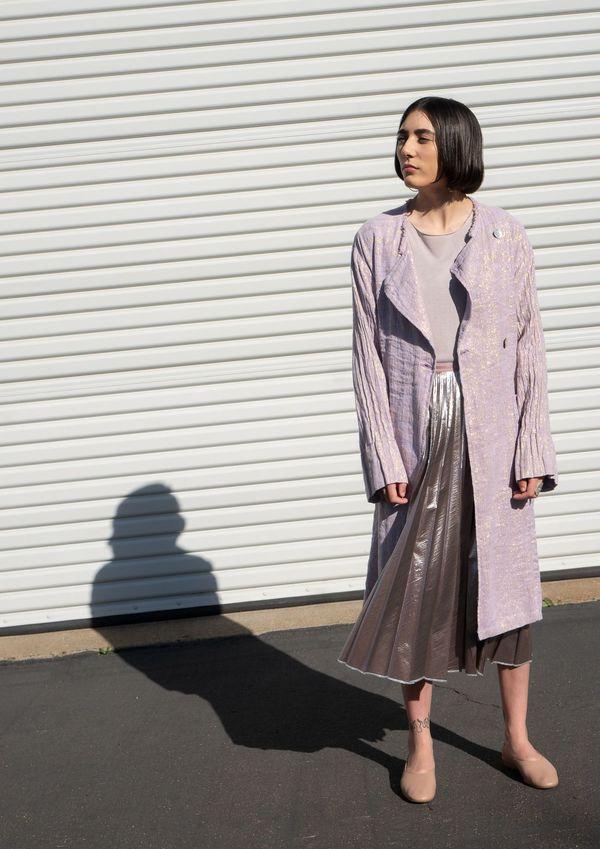 Raquel Allegra Trench Coat - Lilac