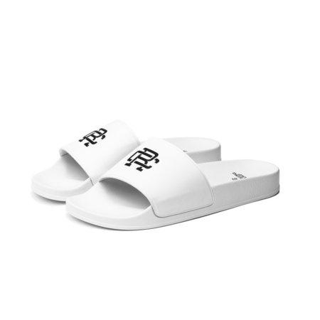 Reigning Champ Monogram Slides - White/White