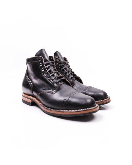 Viberg Straight Toe Cap Service Boot - Black CXL