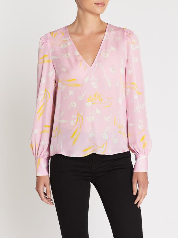 cab698de175d41 Joie Yadra Long Sleeve Blouse - Lavender Rose | Garmentory
